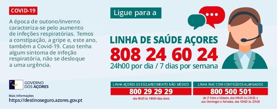 Linha Saúde Açores COVID-19