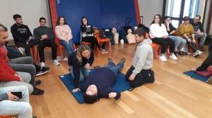 Mass Training em Suporte Básico de Vida na ES Manuel de Arriaga