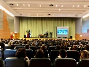 Palestras sobre o 112, o Centro de Operações e Riscos Naturais e Medidas de Autoproteção na ES Domingos Rebelo