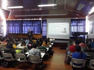 Palestra sobre Suporte Básico de Vida na ES Emiliano de Andrade