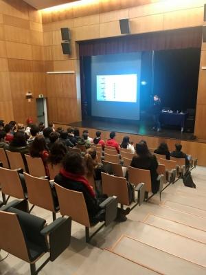 Palestra sobre Primeiros Socorros na ES Manuel de Arriaga