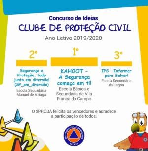 Vencedores da 3.ª edição do Concurso de Ideias dos Clubes de Proteção Civil