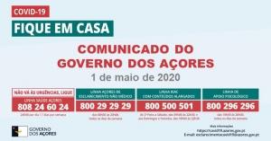 COVID-19: Comunicado do Governo dos Açores