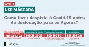 Governo dos Açores divulga laboratórios para despiste ao coronavírus SARS-CoV-2 em território continental
