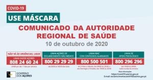 COVID-19: Comunicado da Autoridade de Saúde Regional