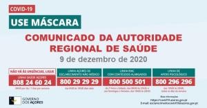 COVID-19: Comunicado da Autoridade Regional de Saúde