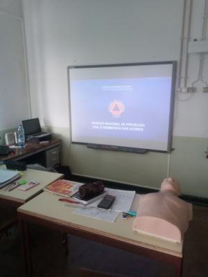 Palestra sobre Suporte Básico de Vida na EBS São Roque do Pico