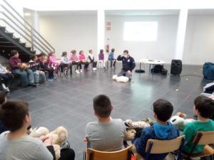 Escolinha de Primeiros Socorros na EBS Lajes do Pico