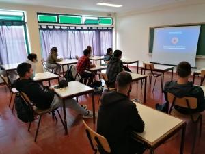 Palestra sobre Proteção Civil e Medidas de Autoproteção na EBS de Santa Maria