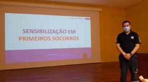 Palestra sobre Primeiros Socorros na EBI Francisco Ferreira Drummond