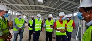 Clélio Meneses visitou obras do novo quartel dos Bombeiros Voluntários da Horta